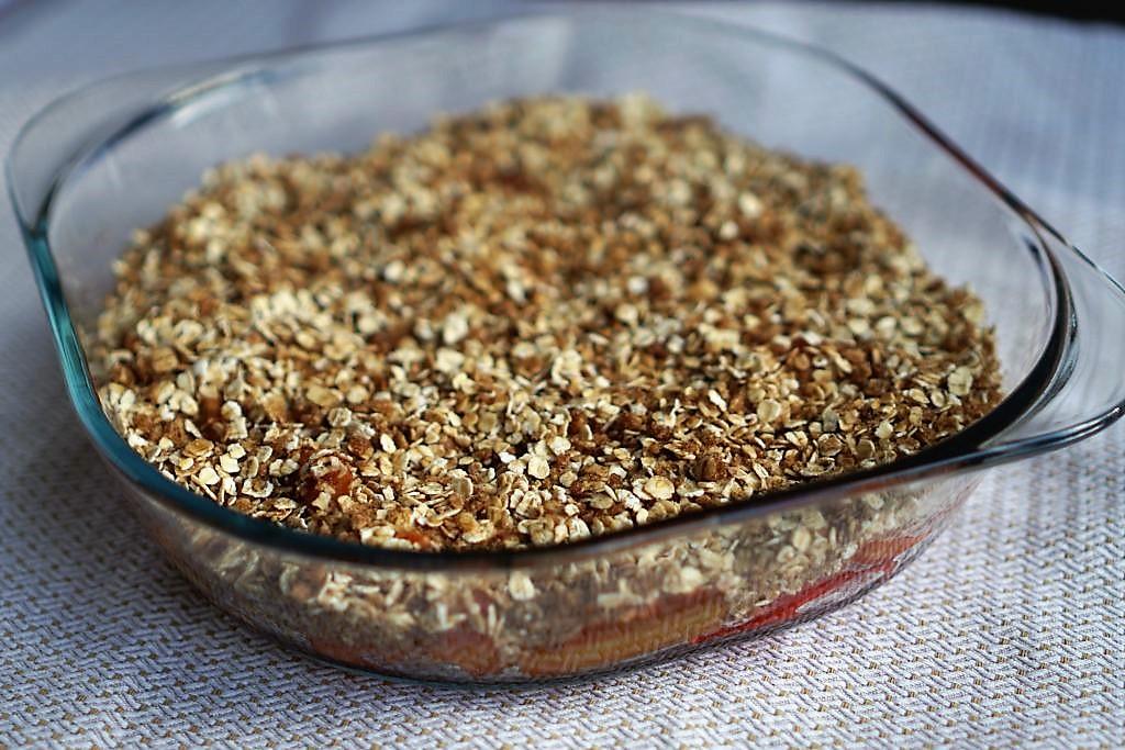 crumble à la rhubarbe recette