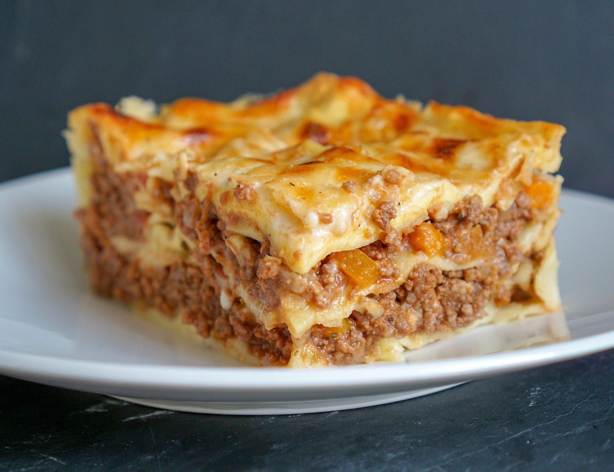lasagnes à la bolognaise cuisine italienne