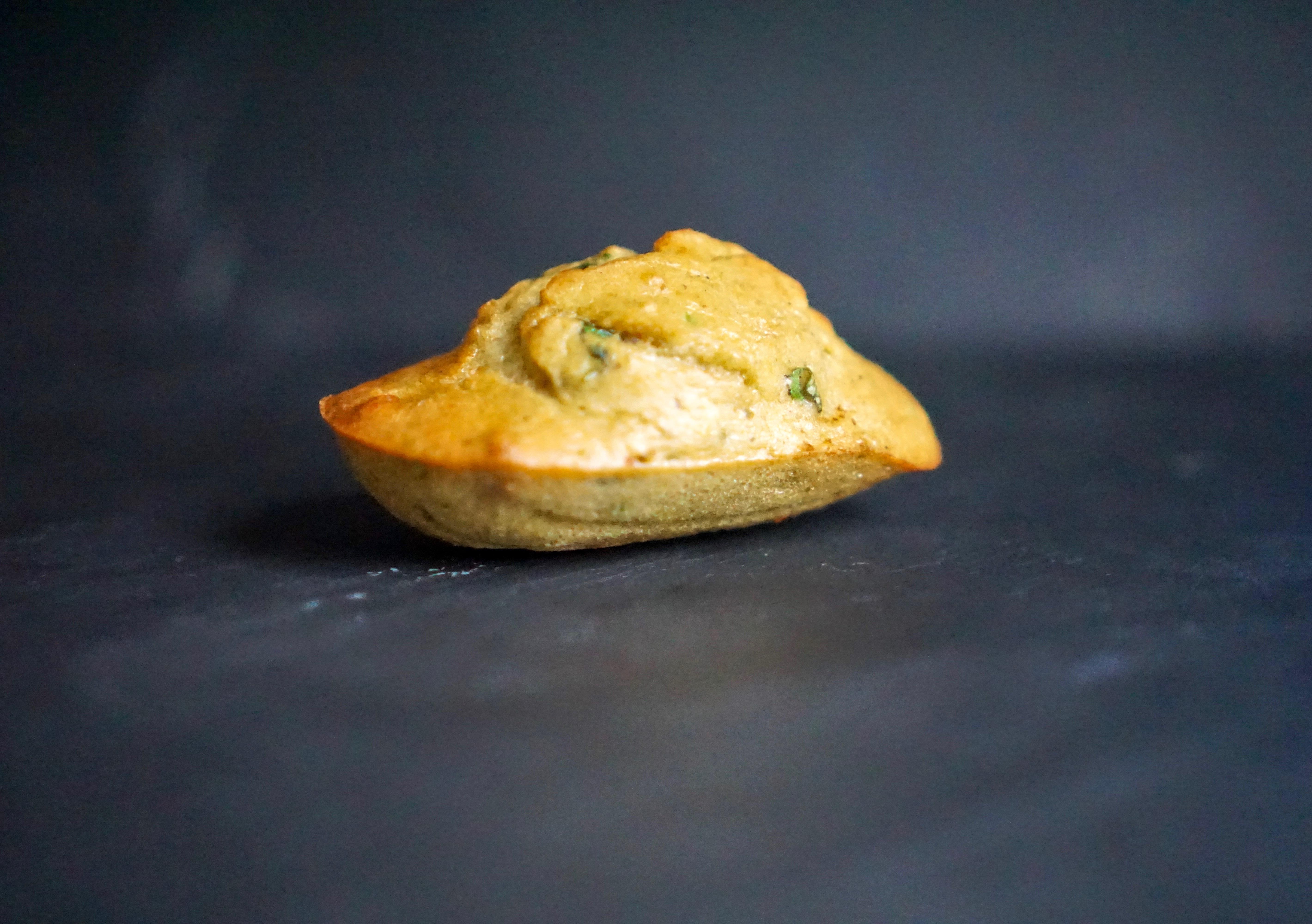 Madeleines courgettes basilic sans gluten