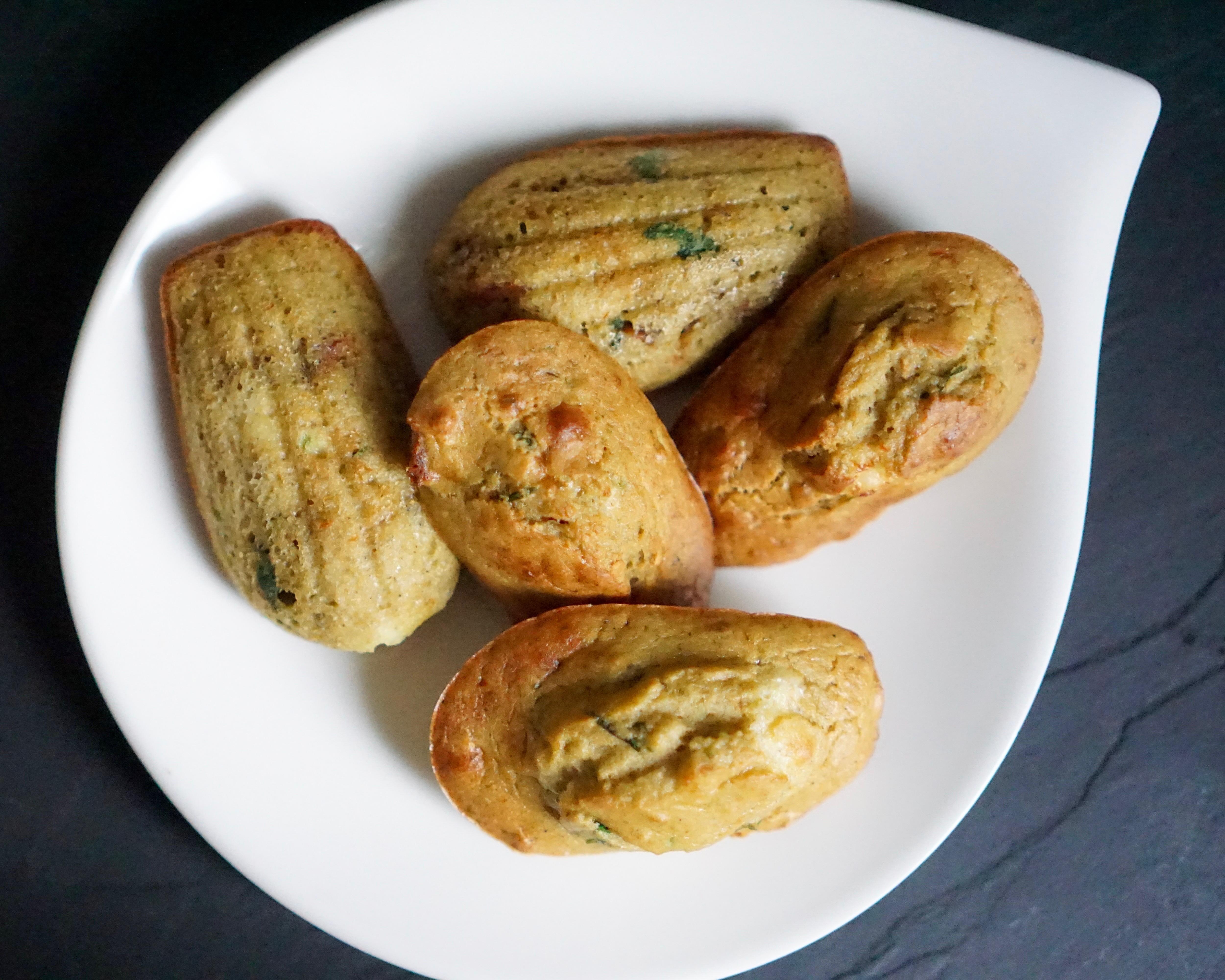 Madeleines courgettes basilic feta