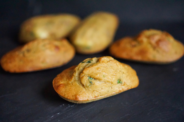Madeleines courgettes basilic sans gluten recette facile
