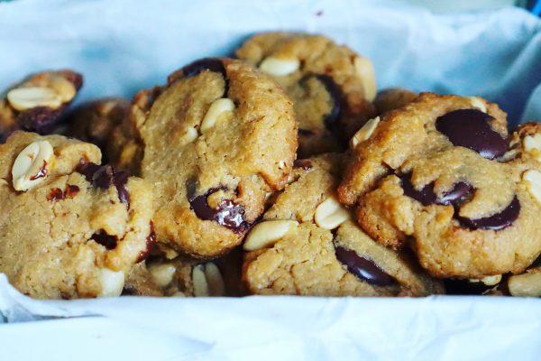 cookies au beurre de cacahuètes chocolat