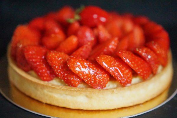 Tarte aux fraises patissière