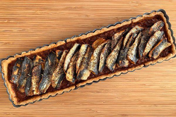 Tarte sardines tomates