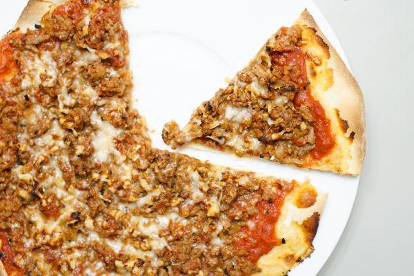 pizza à la viande hachée