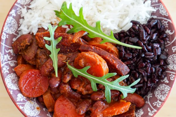 Curry de haricots rouges au gingembre