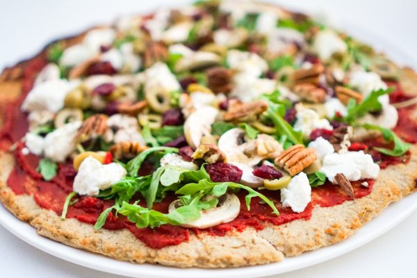 Pizza de chou fleur sans farine
