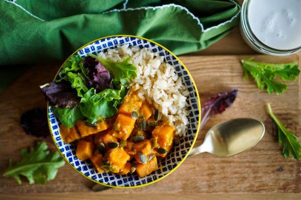 Curry vegan de patates douces
