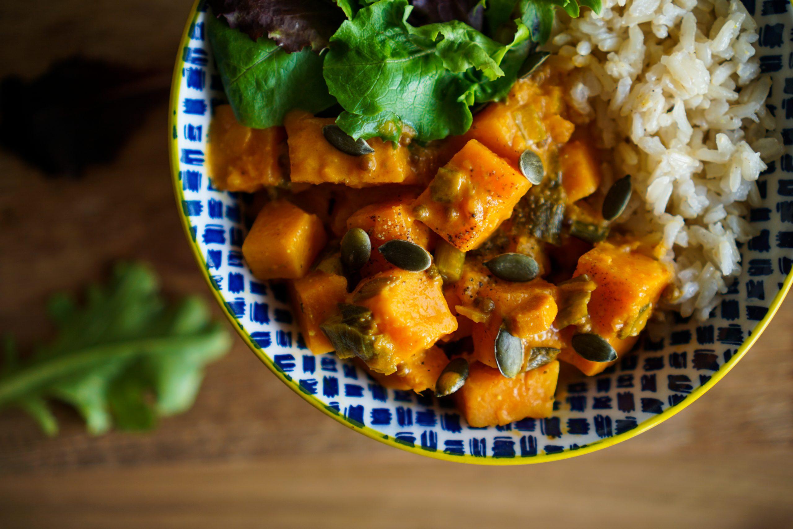 Curry vegan de patates douces