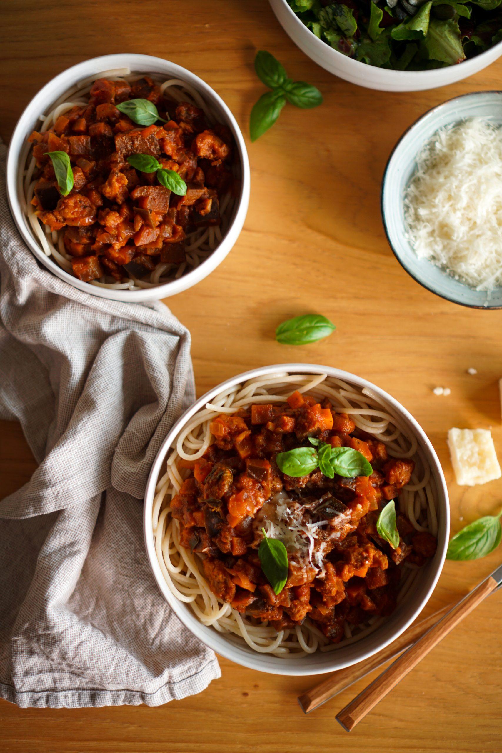 Spaghetti bolognaise vegan recette healthy facile et rapide
