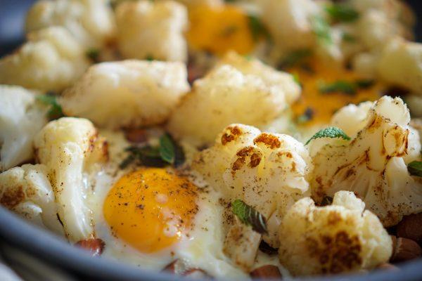 Poêlée de chou fleur aux œufs recette rapide