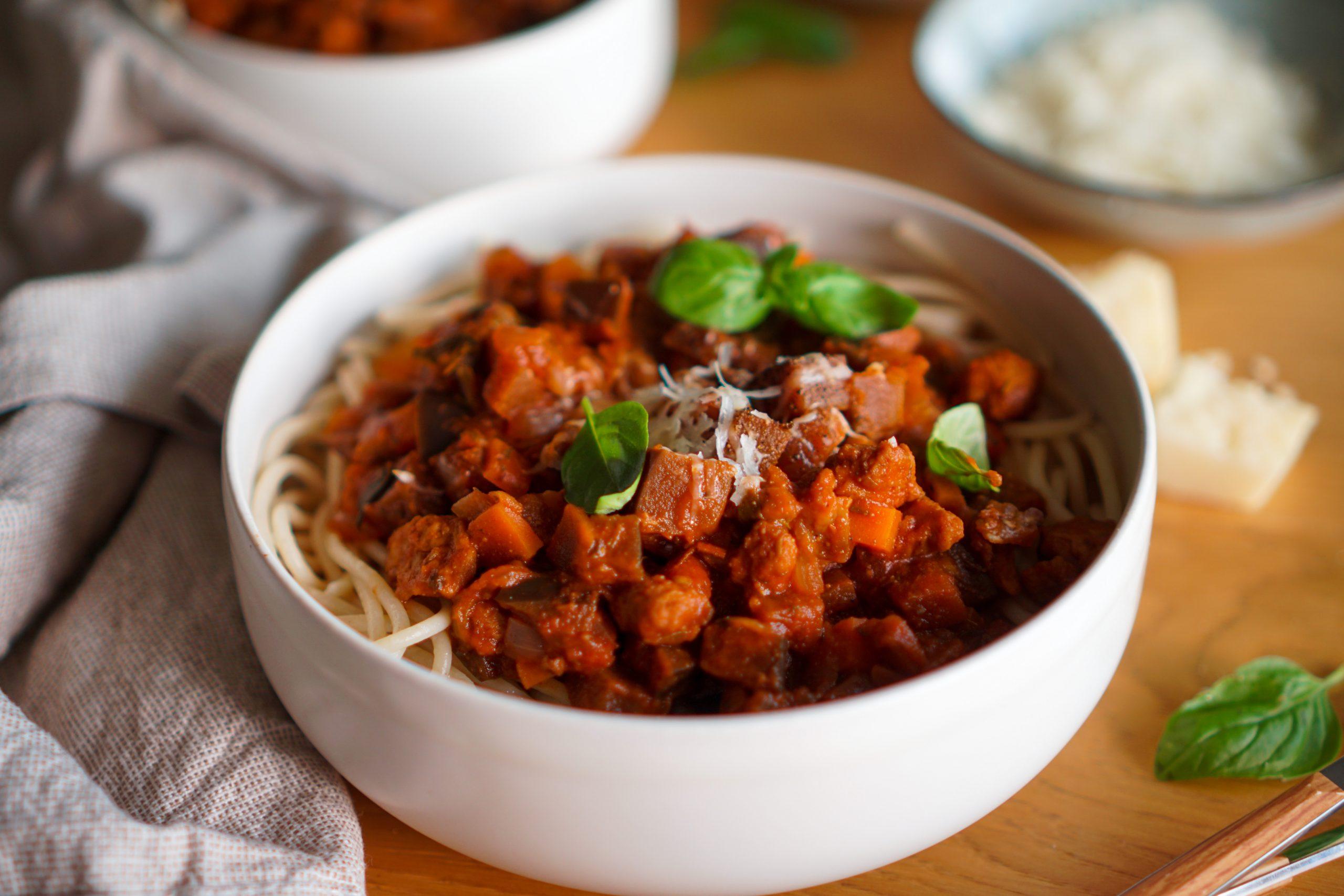 Spaghetti bolognaise vegan recette healthy saine facile et rapide