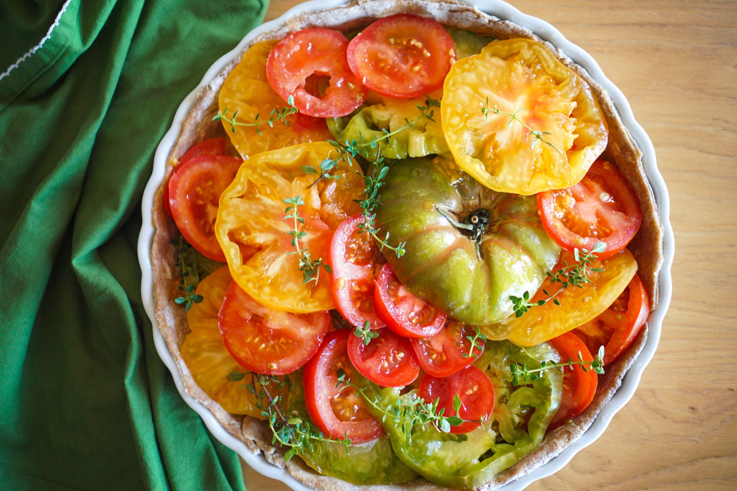 Tarte légère tomates chèvre recette rapide