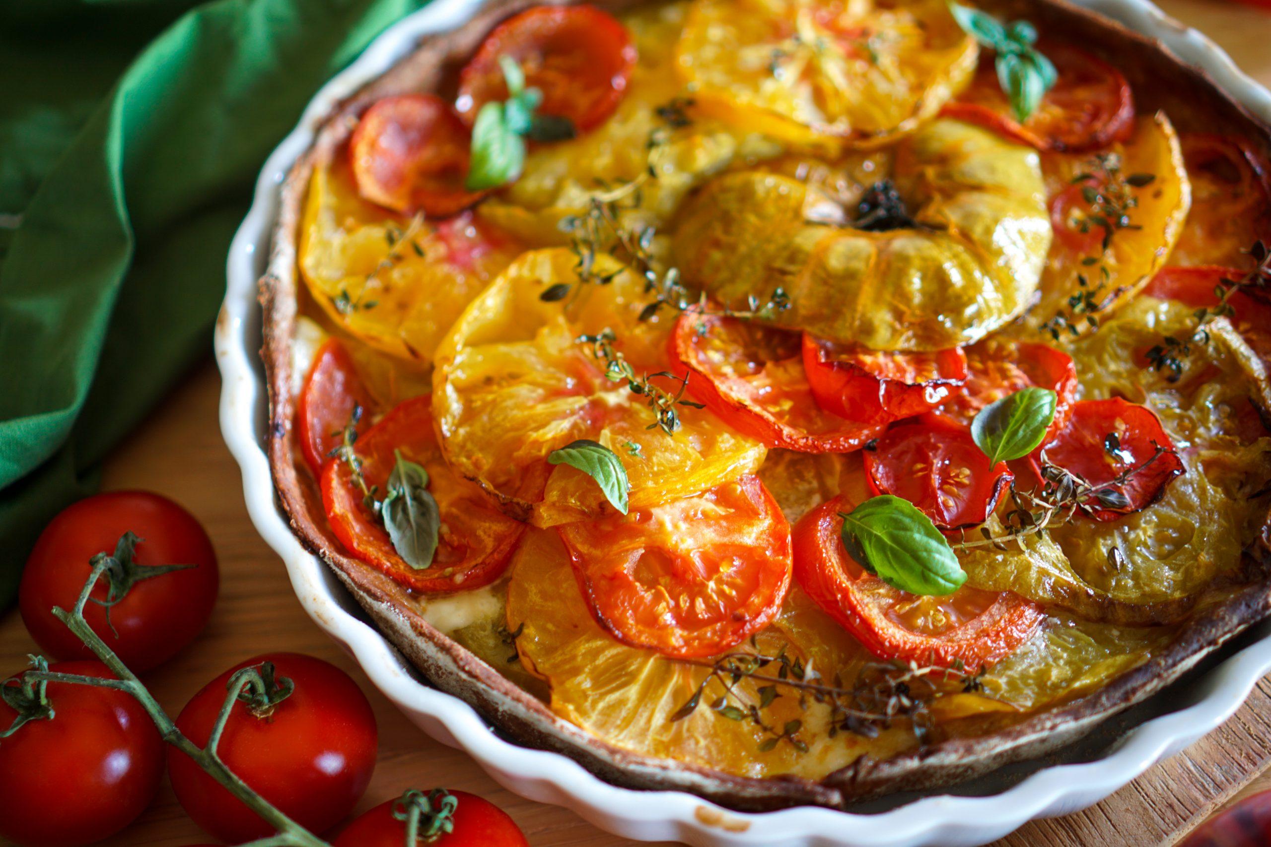 Tarte aux tomates et chèvre