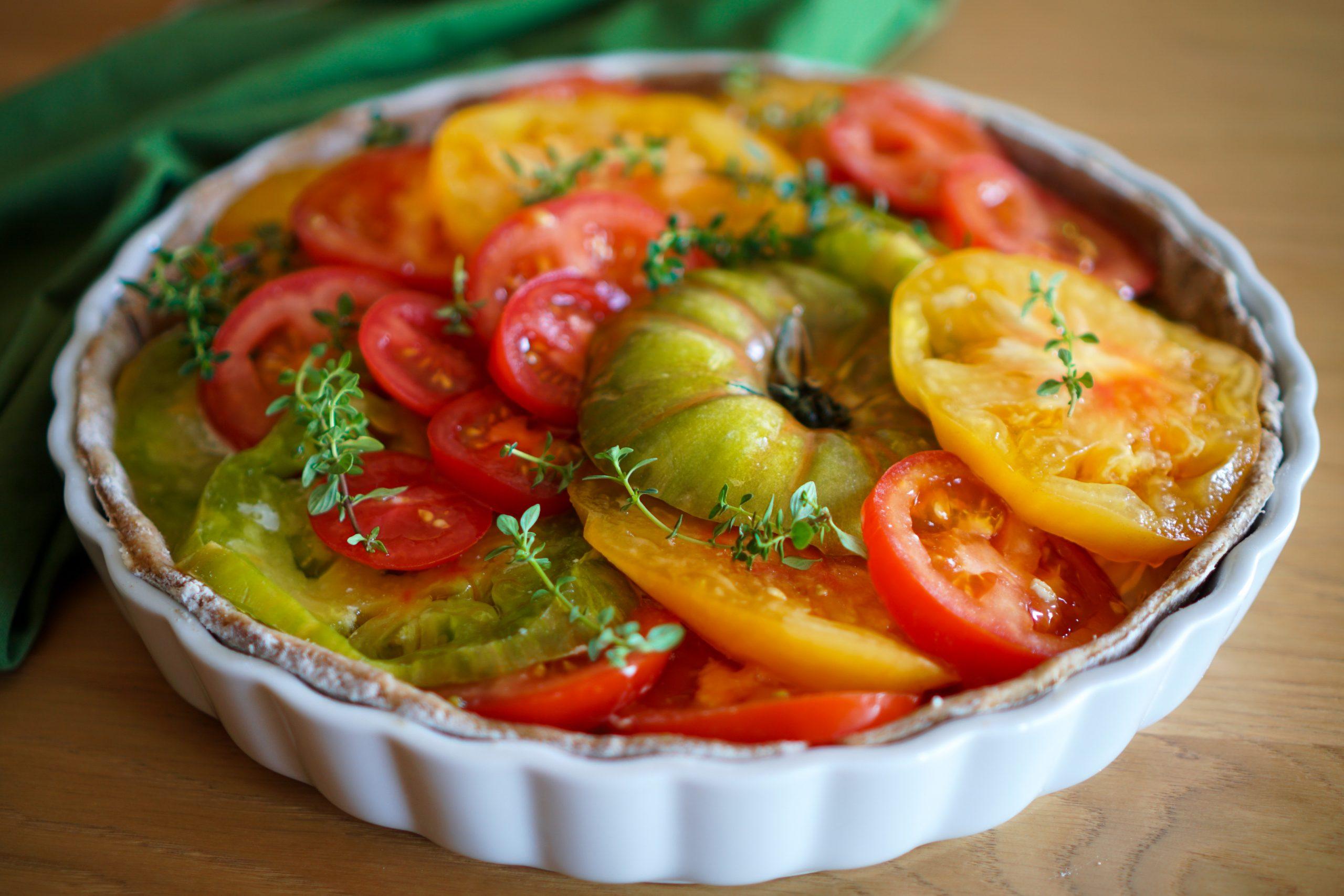 Tarte tomates fromage de chèvre